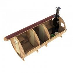 Баня-бочка из сибирского кедра E-класс 5×2.15