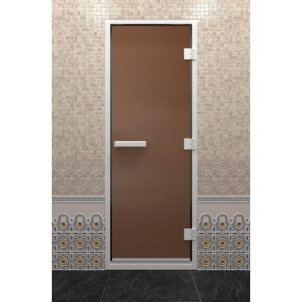 Дверь для хамама DoorWood Хамам Бронза Матовая