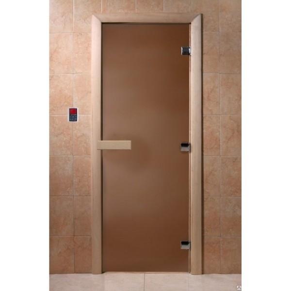 Дверь для сауны DoorWood Бронза матовая
