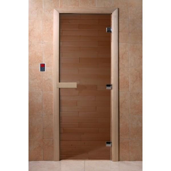 Дверь для сауны DoorWood Бронза