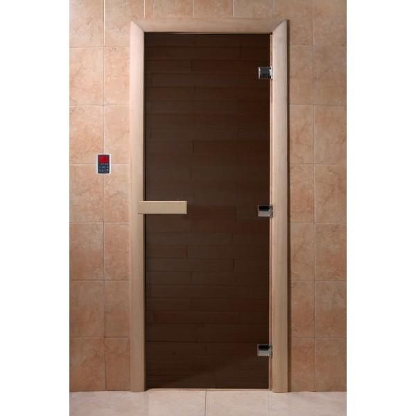 Дверь для сауны DoorWood Черный Жемчуг