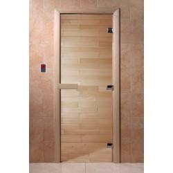 Дверь для сауны DoorWood Прозрачная