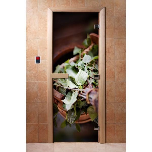 Дверь для бани с фотопечатью DoorWood А008