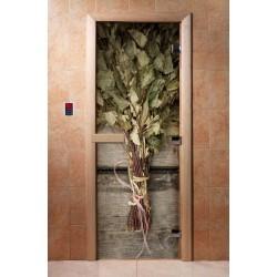 Дверь для бани с фотопечатью DoorWood А011