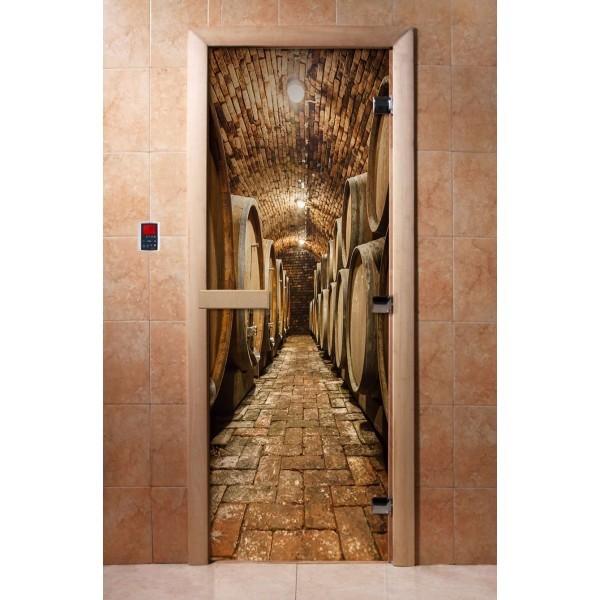 Дверь для бани с фотопечатью DoorWood А034