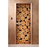 Дверь для бани с фотопечатью DoorWood А043