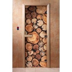 Дверь для бани с фотопечатью DoorWood А044