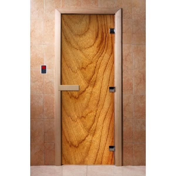Дверь для бани с фотопечатью DoorWood А051