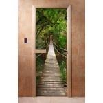 Дверь для бани с фотопечатью DoorWood А083