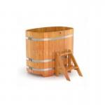 Купель BentWood овальная из лиственницы 0,76х1,16 h=1,00