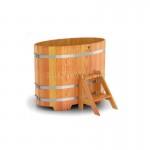 Купель BentWood овальная из лиственницы 0,80х1,42 h=1,00