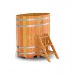 Купель BentWood овальная из лиственницы 0,80х1,42 h=1,40