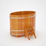 Купель BentWood овальная из лиственницы 0,92х1,66 h=1,20