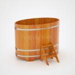 Купель BentWood овальная из лиственницы 1,02х1,68 h=1,20