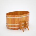 Купель BentWood овальная из лиственницы 1,15х1,83 h=1,00