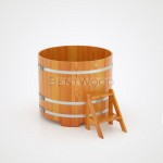 Купель BentWood круглая из лиственницы d=1,17 h=1,10