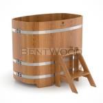 Купель BentWood овальная из дуба 0,76х1,16 h=1,10