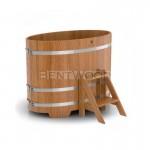 Купель BentWood овальная из дуба 0,80х1,42 h=1,10