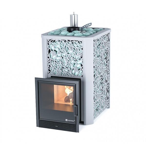 Печь для бани газо-дровяная ИзиСтим Ялта 25 Premium в кожухе
