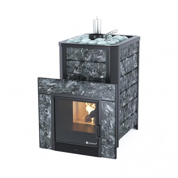 Печь для бани газо-дровяная ИзиСтим Ялта 25 Premium в камне