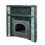 Портал для банной печи Гефест из камня Серпентинит