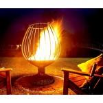 Кованый садовый очаг для огня с  функцией мангала Барбекю Бокал