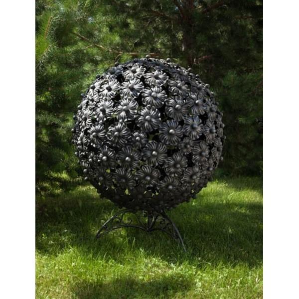 Переносная сфера для огня с функцией  уличного мангала Барбекю Цветы-208