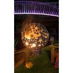 Стальная сфера для огня с  уличным мангалом Барбекю Звёзды