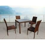 Комплект плетеной мебели Joygarden Milano темно-коричневый