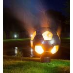Необычная сфера для огня из нержавеющей стали Барбекю Футбольный мяч INOX