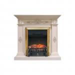 Каминокомплект Royal Flame Derby белый дуб с очагами Majestic FX/Fobos FX
