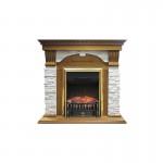 Каминокомплект Royal Flame Dublin арочный сланец белый с очагами Majestic FX/Fobos FX