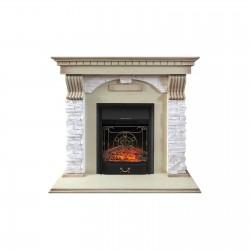 Каминокомплект Royal Flame Dublin арочный сланец крем с очагами Majestic FX/Fobos FX