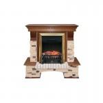 Каминокомплект Royal Flame Pierre Luxe сланец/сланец белый с очагами Majestic FX/Fobos FX