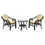 Комплект мебели кофейный из натурального ротанга Император