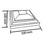 Крышка для столба ДПК 100х100 WPC
