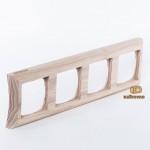 Четырехместная рамка на блок-хаус Basic 55