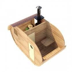 Овальная баня-бочка из сибирского кедра 2х4