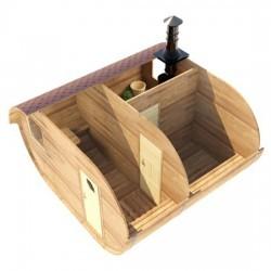 Овальная баня-бочка из сибирского кедра 4х4