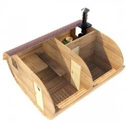 Овальная баня-бочка из сибирского кедра 4х4,5
