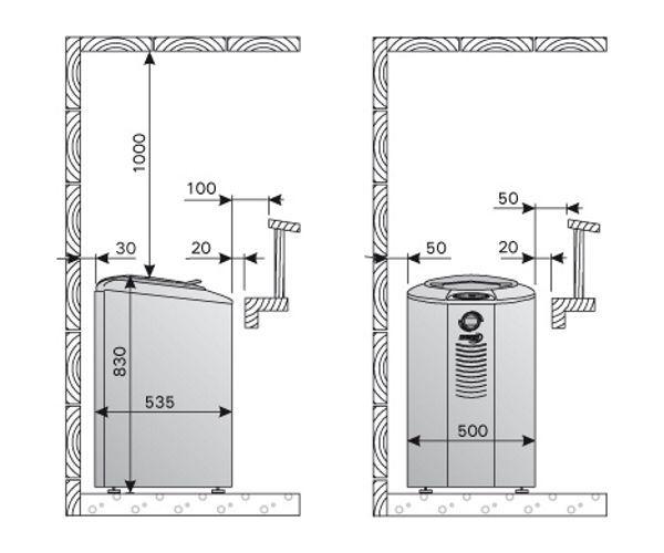 Схема установки Harvia Forte