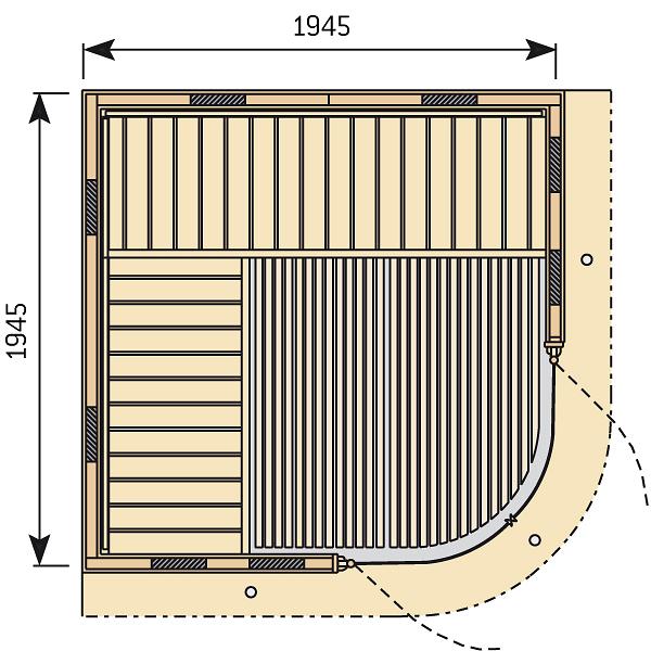 Чертеж инфракрасной кабины Harvia Rondium SG2020KL