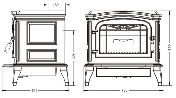 Конструкция печи-камина Invicta Bradford