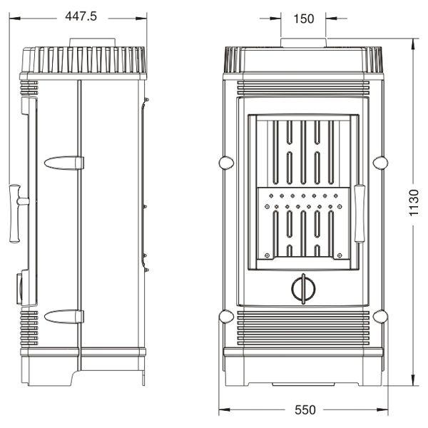 Конструкция печи-камина Invicta Gomont
