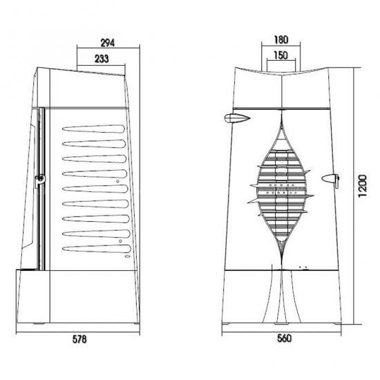 Конструкция печи-камина Invicta Presage