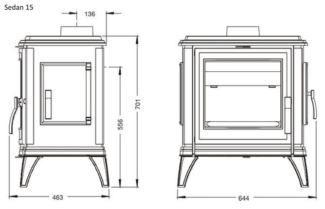 Конструкция печи-камина Invicta Sedan 10