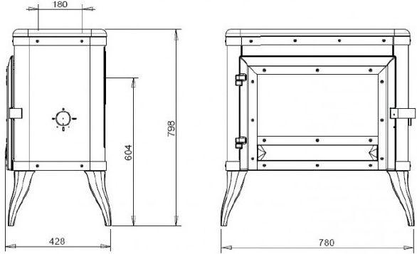 Конструкция печи-камина Invicta Tennessee