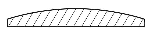Планка/наличник закругленная кедр 90х12