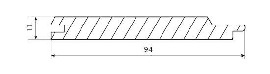 Вагонка кедр 94х11