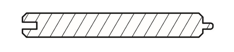Вагонка кедр фазепрофиль 12х95